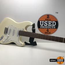 Tenson E-Gitarre -6 Saiten- Creme Weiß California Edition