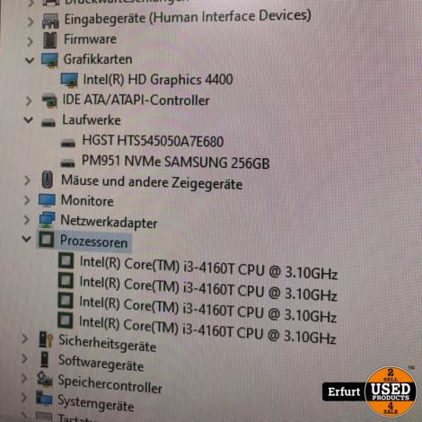 HP ProDesk 400 G1 DM Mini Desktop PC Intel Core i3-4160T 8GB RAM 256GB M.2
