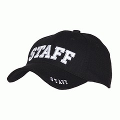 Baseball cap Staff Black