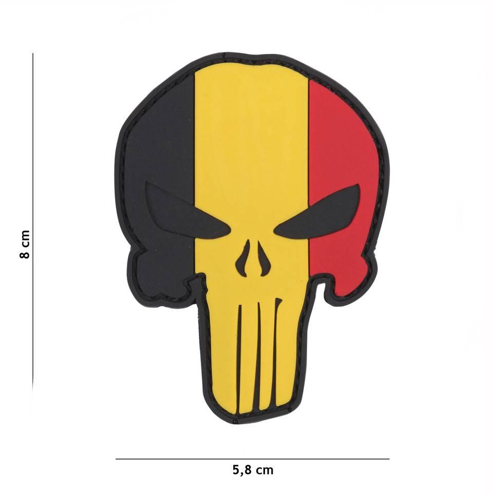 3 D patch Belgium skull