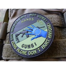 HANDS OFF MY GUN Patch, forest  3D Rubber Patch