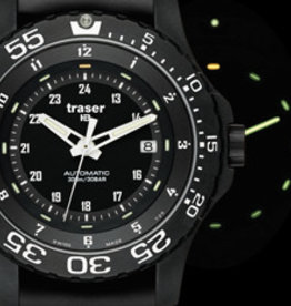 Traser Watches Traser P66 Automatic Pro rubber - horloge - zwart - Ø 45 mm