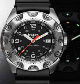 Traser Watches P49 Survivor stainless steel - Ø 44 mm - zilverkleurig