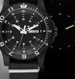 Traser Watches Traser P66 Type 6 MIL-G rubber - horloge - zwart - Ø 46 mm