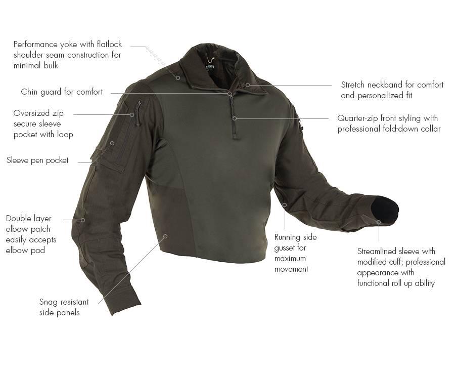 First Tactical DEFENDER COMBAT SHIRT