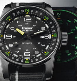 Traser Watches P68 Pathfinder nato - horloge - Ø 46 mm - zwart