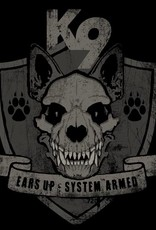 K9  ears up – system armed
