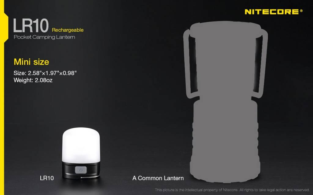 NiteCore LED Lantaarn 'LR10' - zwart