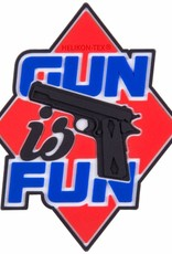 "Helikon-Tex® Gun is Fun"" Patch - PVC - Red"