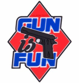 "Helikon-Tex® Gun is Fun"" Patch - PVC - Red"