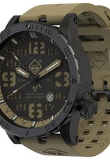 Hazard 4® HEAVY WATER DIVER - BLACK CAVERN GMT GROEN / GEEL