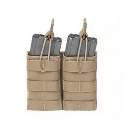 Warrior Assault Systems Mag Pouch -DOUBLE MOLLE OPEN M4 5.56MM MAG / BUNGEE RETENTION- 2 MAG