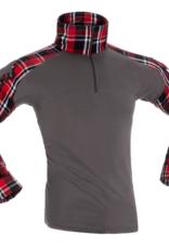 Invader Flannel-Combat-Shirt-Red