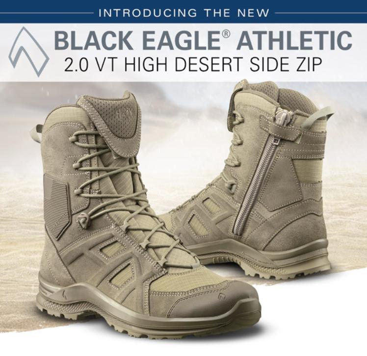 Haix BLACK EAGLE Athletic 2.0 V T high/desert/Sidezipper