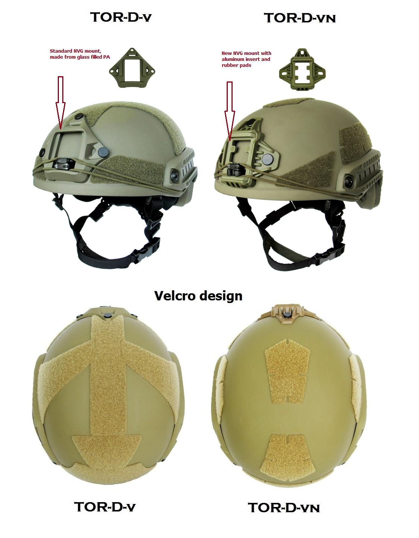Bulletproof helmet ТОR-D High Cut