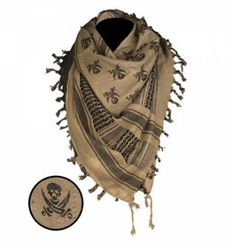 Shemagh Scarf Skull - Coyote / Black