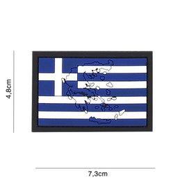 Griekse vlag  3D Rubberpatch