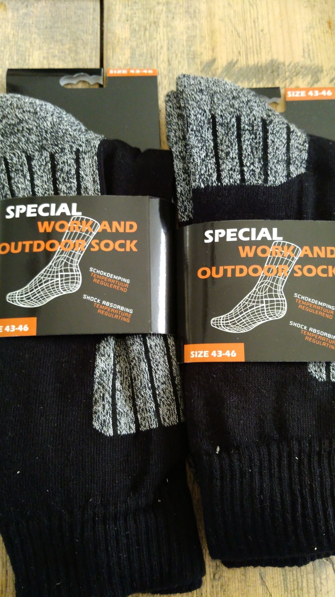 werk en outdoor sokken