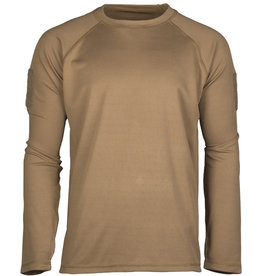 MIL-TEC® Tactical Quick Dry Long Arm Shirt dark coyote