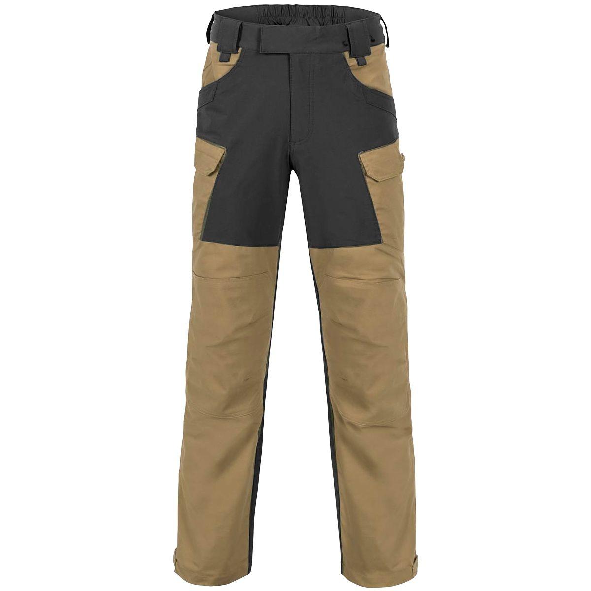 Helikon-Tex®  HYBRID OUTBACK PANTS®  DURACANVAS® - Coyote / BLACK
