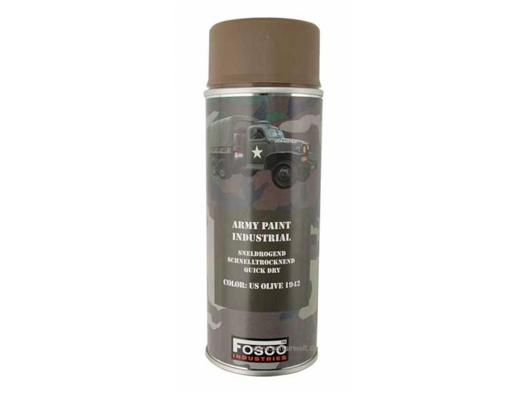 FosCo Industries US Olive 1942 spuitbus legerverf sneldrogend 400ml 469312