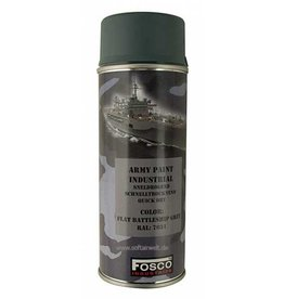 FosCo Industries Flat battleship grey RAL 7031 spuitbus legerverf sneldrogend 400ml 469312