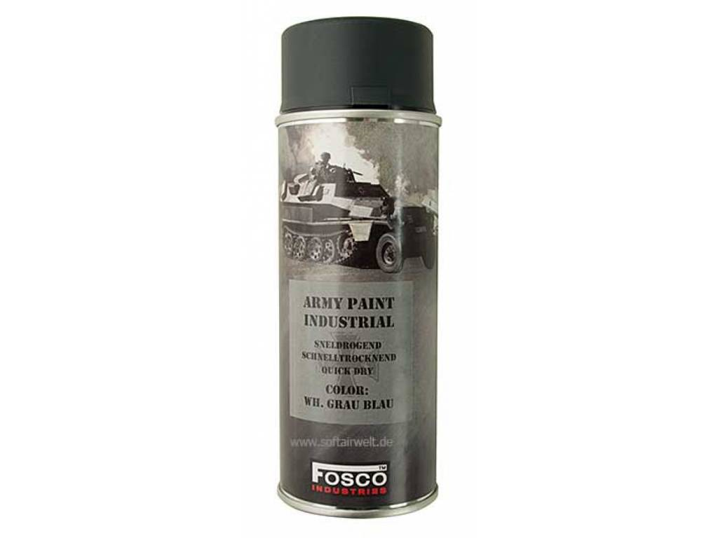 FosCo Industries WH grau blau spuitbus legerverf sneldrogend 400ml 469312
