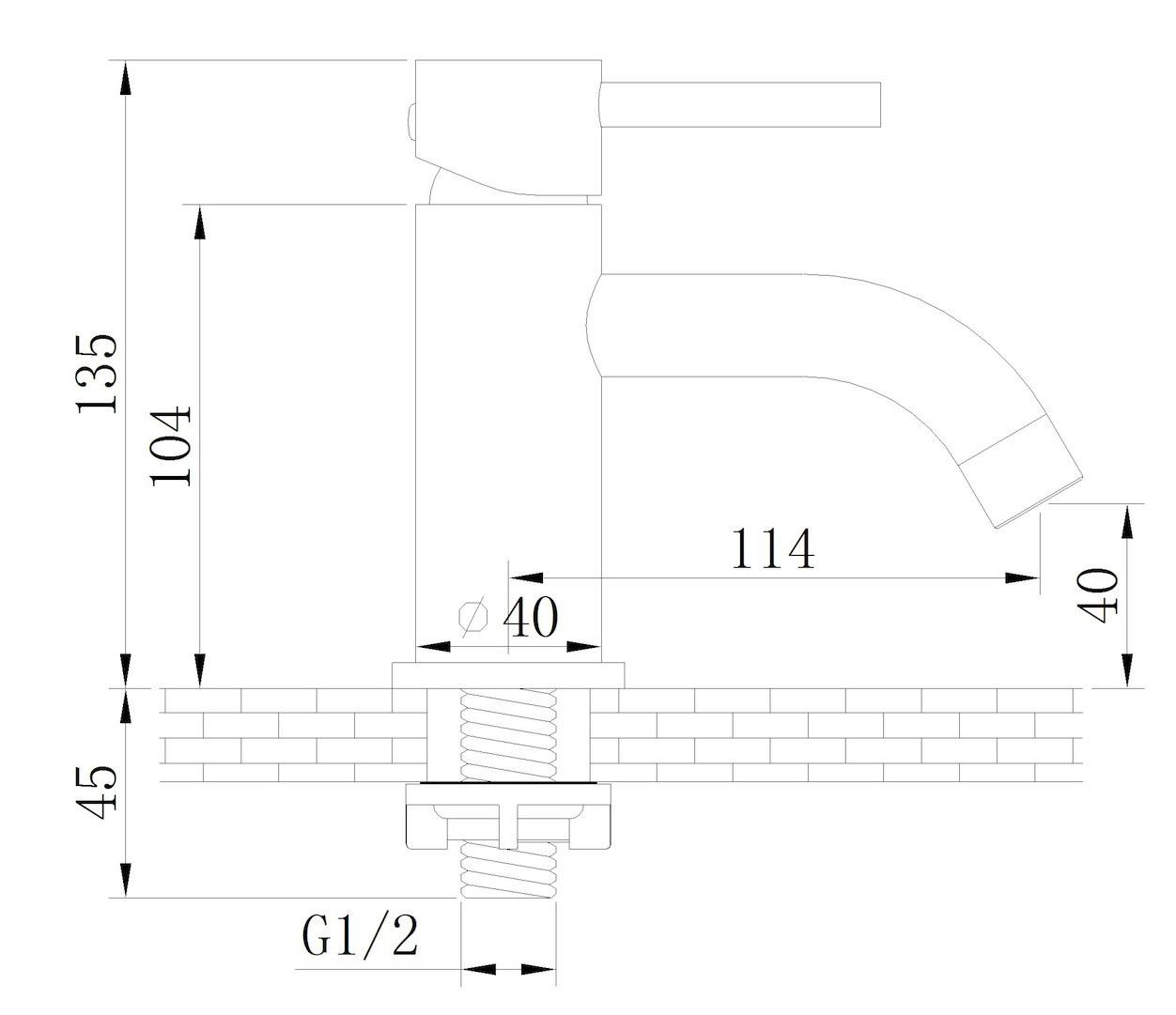 Linea Uno Toiletkraan laag Type 2
