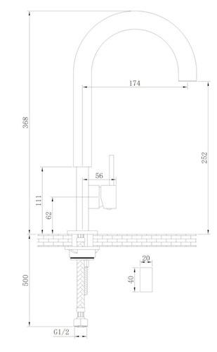 Sink / Küchenarmatur Huddinge