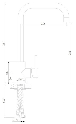 Sink / KŸchenarmatur Skön Typ 1