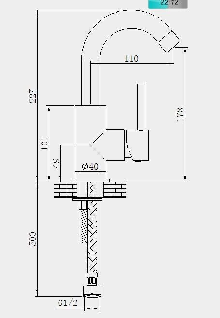 Wastafelkraan laag Almvik (Showroommodel)