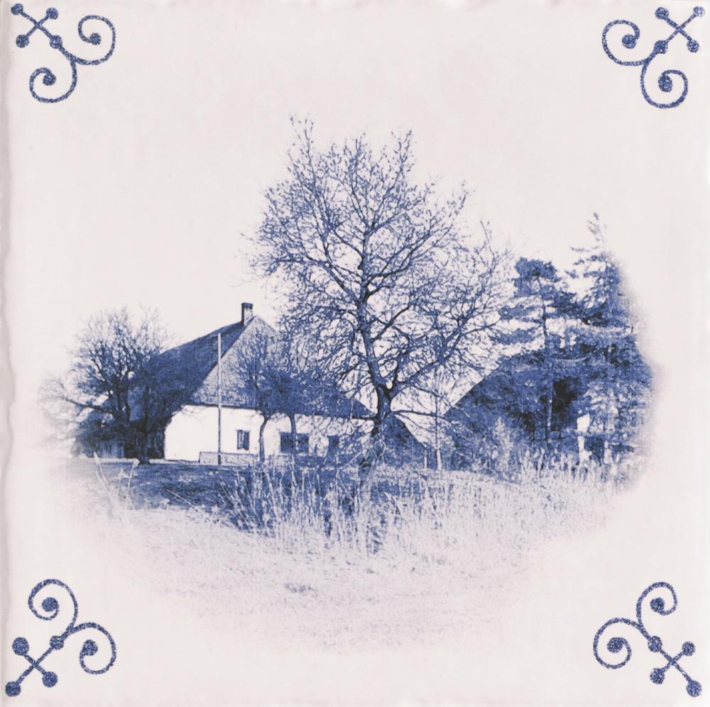 Mainzu Tegel Delfts blauw antiek 15 x 15 cm