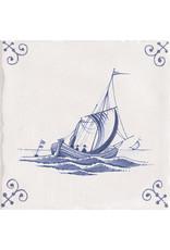 Mainzu Delfts blauw Marina antiek 15 x 15 cm