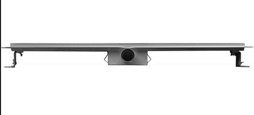Linea Uno 3G RVS douchegoot compleet met flens en RVS Sifon 90x7cm
