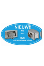 Linea Uno 3G RVS douchegoot compleet met flens en RVS Sifon 70x7cm