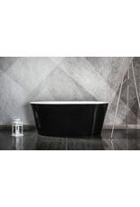 Design ligbad Riga 150 zwart