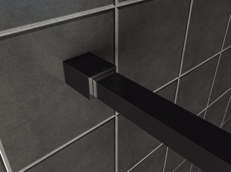 Stabilisatiestang zwart compleet 120 cm 8 mm