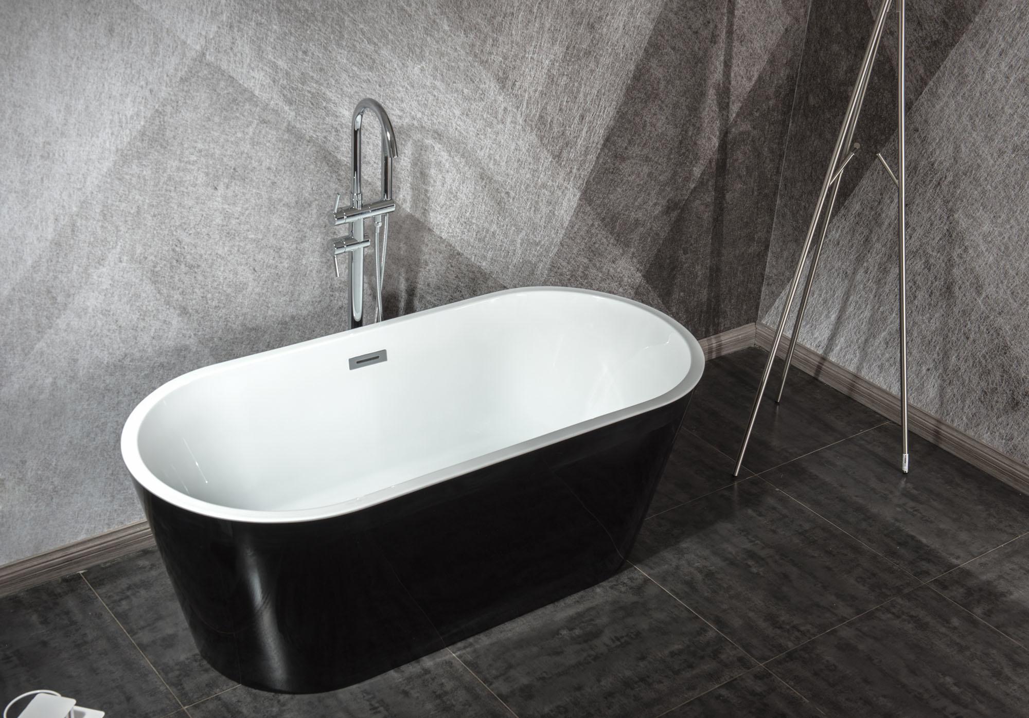 Design ligbad Teika 160 (zwart)