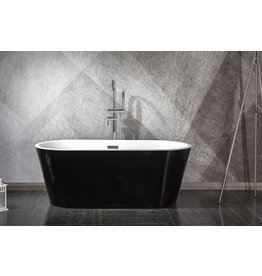 Linea Uno Designer Bad Teika 170 (schwarz) (Model Showroom)