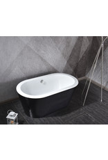 Design ligbad Riga 160 zwart