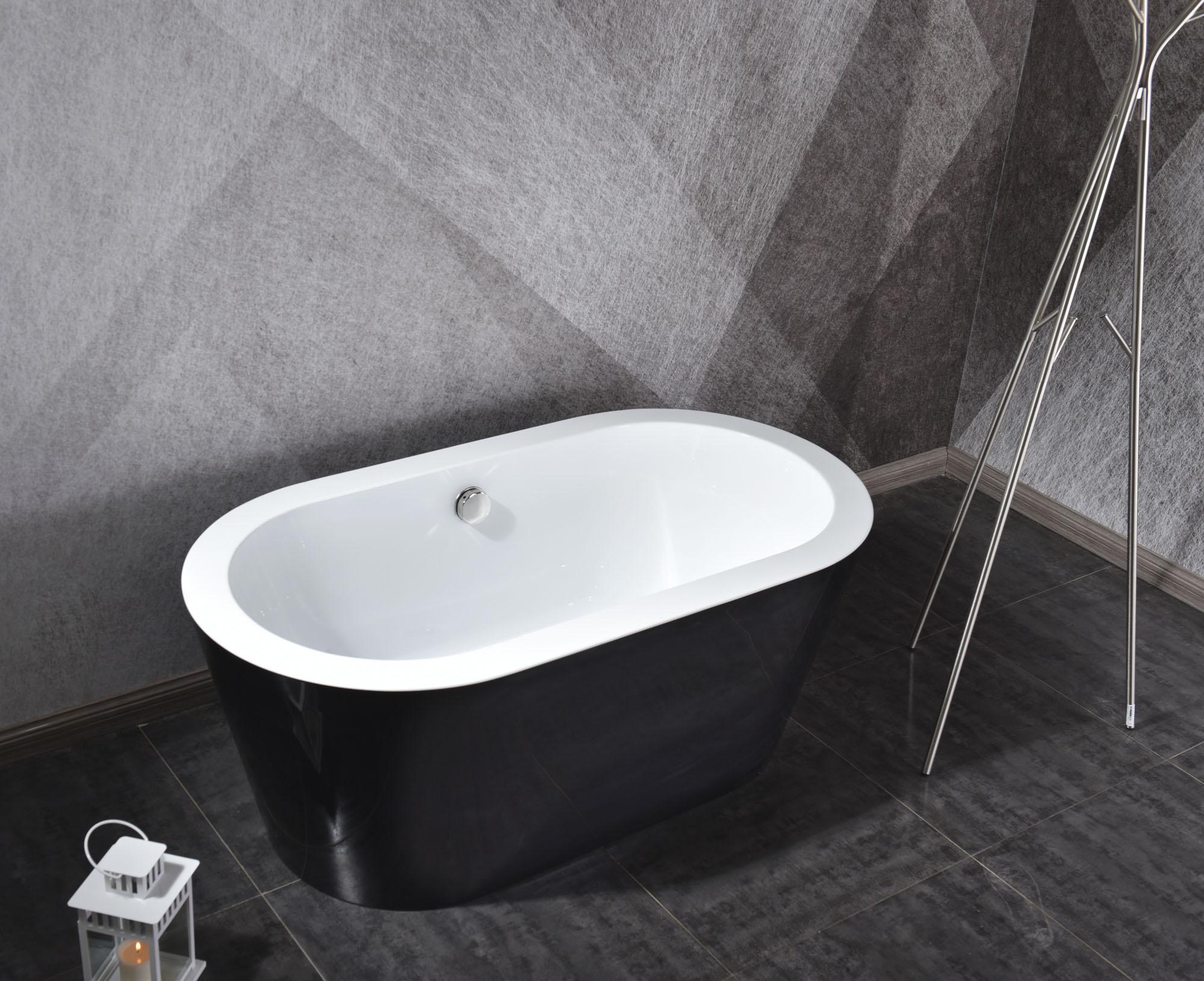 Linea Uno Design Badewanne Riga 170 (schwarz)