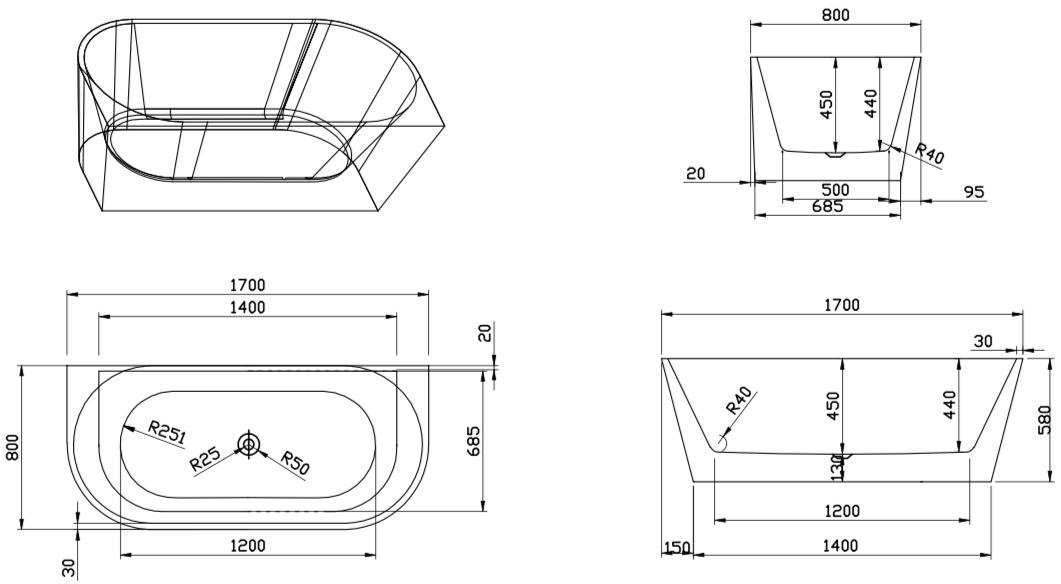 Design ligbad Usma