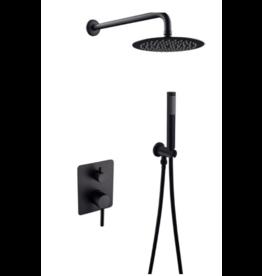 Linea Uno Misi aufgesetztem Duschsatz (schwarz)