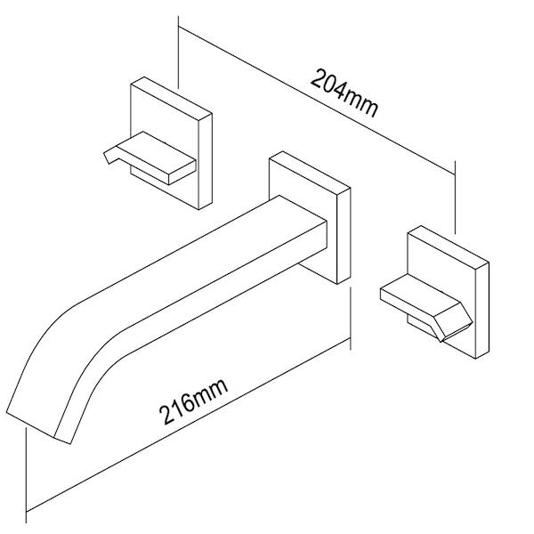 Inbouwkraan Voma (Chroom)