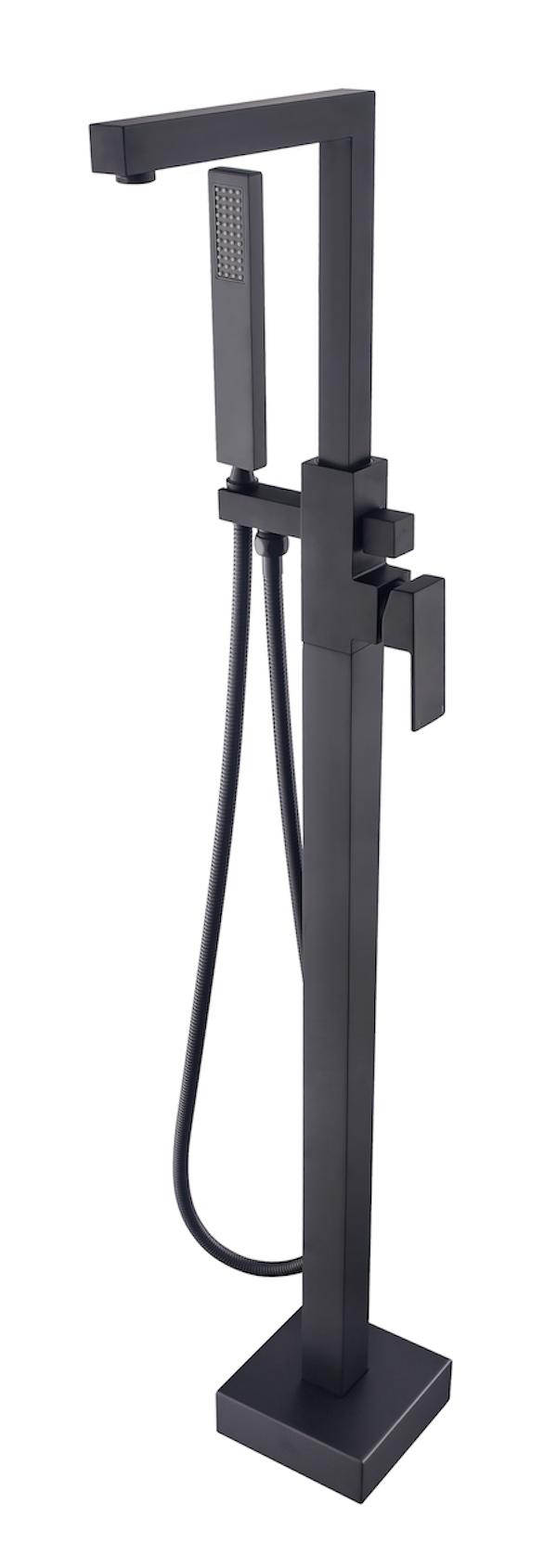 Linea Uno Vrijstaande kraan Ruha (Zwart)