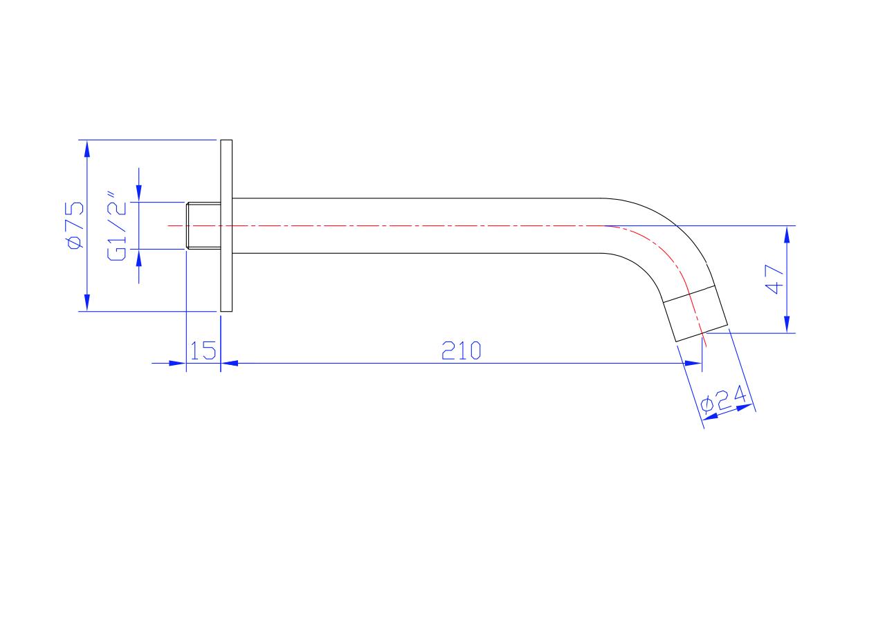 Installationsarmatur Malungs (Rostfreier Stahl)