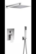 Brausegarnitur eingebaut Hobro (Rostfreier Stahl)
