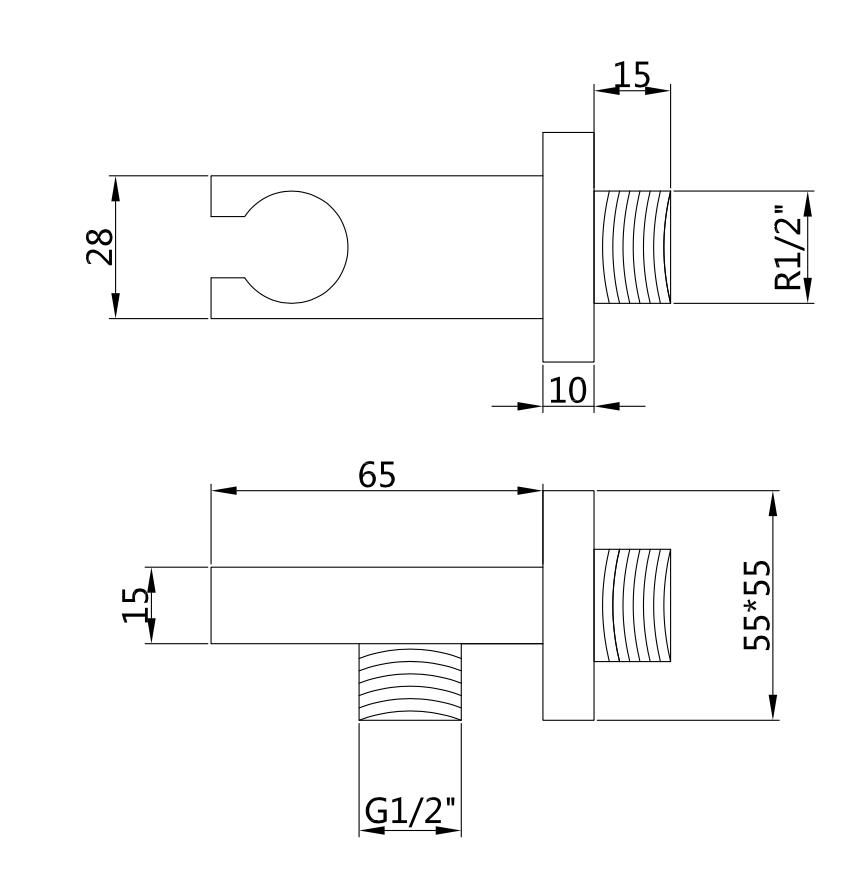 Brausegarnitur gebaut Hobro (Schwarz)