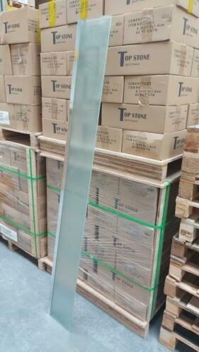 op=op Zijwand Tulta 25 x  200 cm mat glas €19,95