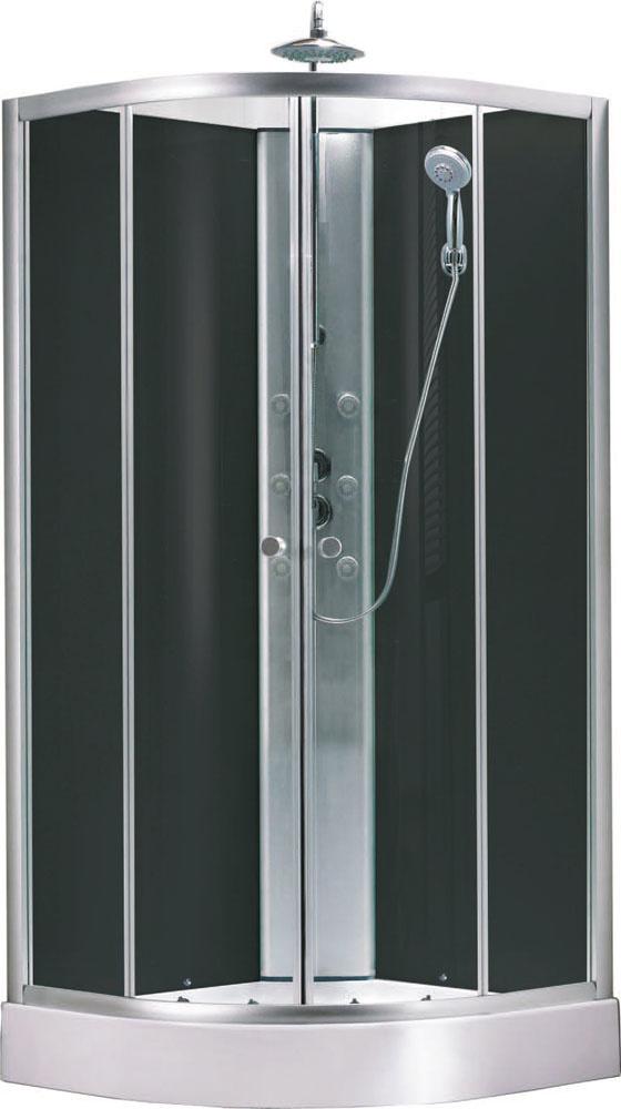 Wiesbaden Jupiter complete douchecabine 90x90x225 alu mat 5mm glas